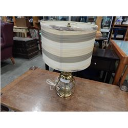 BRASS AND GLASS TABLE LAMP HURRICANE LAMP BASE