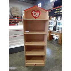 """TY"" DISPLAY BOOKSHELF - APPROX 67 INCH TALL"