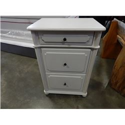 WHITE 3 DRAWER NIGHTSTAND - APPROX 3 FOOT TALL