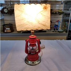 WINGED WHEEL 350 OIL LAMP ELECTRIFIED TABLE LAMP