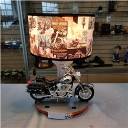 HARLEY DAVIDSON MOTORCYCLE TABLE LAMP