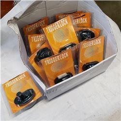 BOX OF 12 NEW PISTOL TRIGGER LOCKS