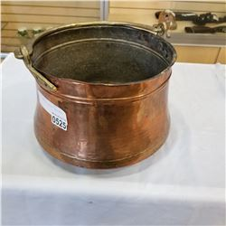 HAND HAMMERED COPPER CAULDRON