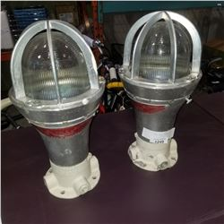 LOT OF 2 FERRY SHIP LAMPS