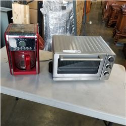 STAINLESS CUISINART TOASTER AND BELLA COFFEE MAKER