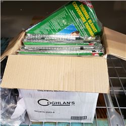 BOX OF NEW COGHLANS THERMAL BLANKETS