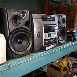 RCA 5-DISC CHANGER BOOKSHELF STEREO