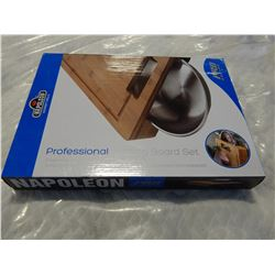 NAPOLEAN PROFESSIONAL CUTTING BOARD SET IN BOX