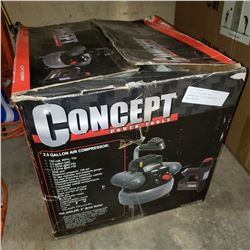 "CONCEPT ELECTRIC AIR COMPRESSOR 2-1/2 GALLON W/ 2"" BRAD NAILER"