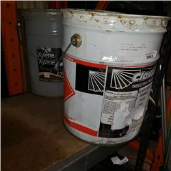 PAIL OF XYLENE THINNER AND FLASH WELD PRIMER