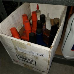 BOX OF OIL SYSTEM CLEANER, RADIATOR STOP LEAK AND OTHER AUTO FLUIDS