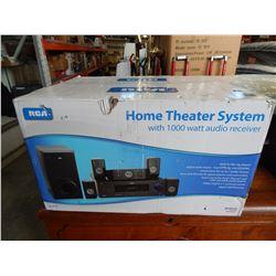 RCA HOME THEATER SYSTEM W/ 1000 WATT AUDIO RECEIVER