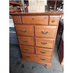 5 DRAWER VILAS MAPLE CHEST OF DRAWERS