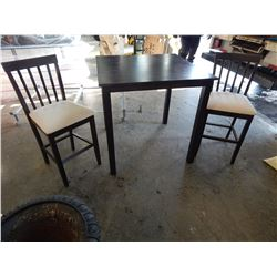 ESPRESSO BAR HEIGHT TABLE W/ 2 STOOLS
