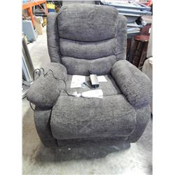 NEW MY STYLE COLLECTION PORTER FABRIC POWER LIFT RECLINER, IN CHOCOLATE, RETAIL $629