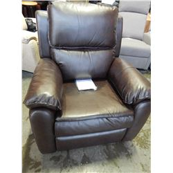 NEW LIFESTYLE SOLUTIONS WARREN RELAX-A-LOUNGER RECLINER, FAUX BLACK LEATHER, RETAIL $599
