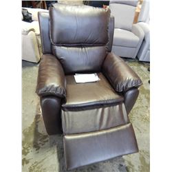 NEW LIFESTYLE SOLUTIONS WEBSTER RELAX-A-LOUNGER RECLINER, FAUX JAVA LEATHER, RETAIL $499