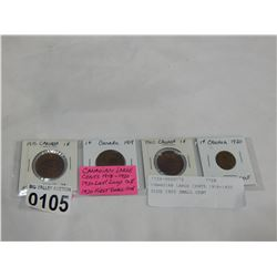 CANADIAN LARGE CENTS 1918-1920 PLUS 1920 SMALL CENT