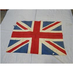 BRITISH MADE ANTIQUE UNION JACK FLAG 2FT 7 INCH X 3FT 9 INCH