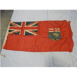 VINTAGE CANADA FLAG 5FT 11 INCH X 2 FT 9 INCH