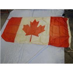 VINTAGE MANITOBA FLAG 2FT 3 INCH X 4 FT 3 INCH