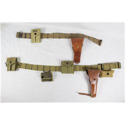 WWII US Pistol Belt Lot