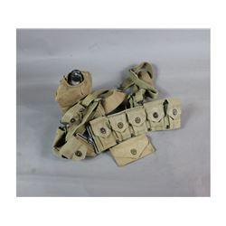 WWII Ammo Belt w/ Suspenders Etc