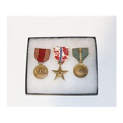 US Korean War Named Bronze Star Grouping