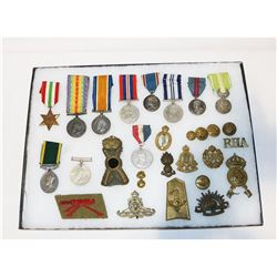 WWI/WWII British, Italian, French Medal & Badge
