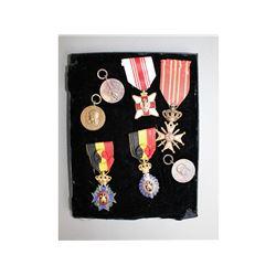 WWII Belgium & Romanian Medals