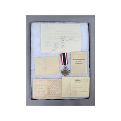 WWII German War Service Medal & Documents