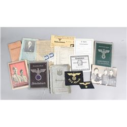 Lot of Nazi ID Books and Paper Goods