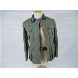 WWII German Army Tunic, Belt & Belt Buckle