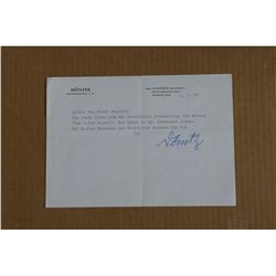 WWII Admiral Donitz Autograph