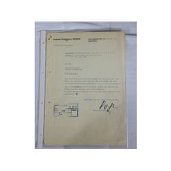 WWII SS Document Signed by Oswald Pohl