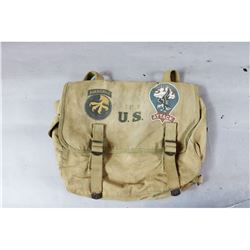 WWII US Musette Hand Painted Bag