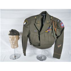 US 101st Airborne Ike Jacket and Overseas Cap