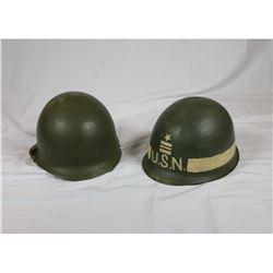 US WWII M1 Steel Pots