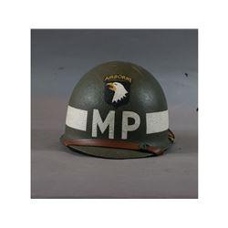 WWII Reenactor US Army 101st Airborne MP Helmet