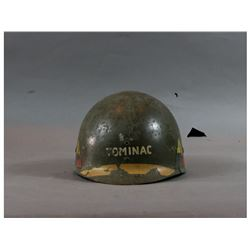 WWII US Army M1 Helmet Liner w/ 3rd Armor Decals
