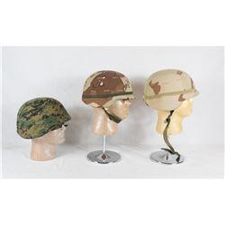 3 US Modern Helmets