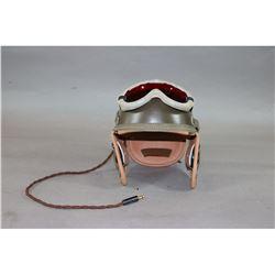 US WWII Reenactors Tanker Helmet w/ Goggles
