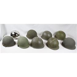 Post WWII Helmet Shell Lot (9)