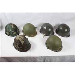 US M1 Helmet Lot (6)