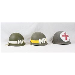 Re-enactor WWII US Army Helmets (3)
