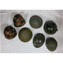 7 European Helmet Lot