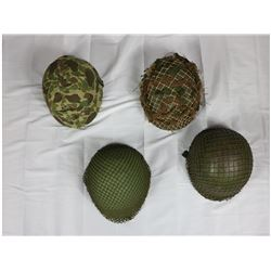 WWII US Reenactor Helmet Lot (4)
