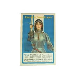 "Vintage ""Joan of Arc Saved France"" Poster"