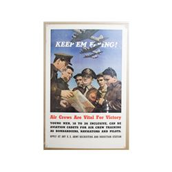 WWII Keep 'Em Flying Recruitment Poster