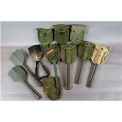 7 Military Shovels with Covers
